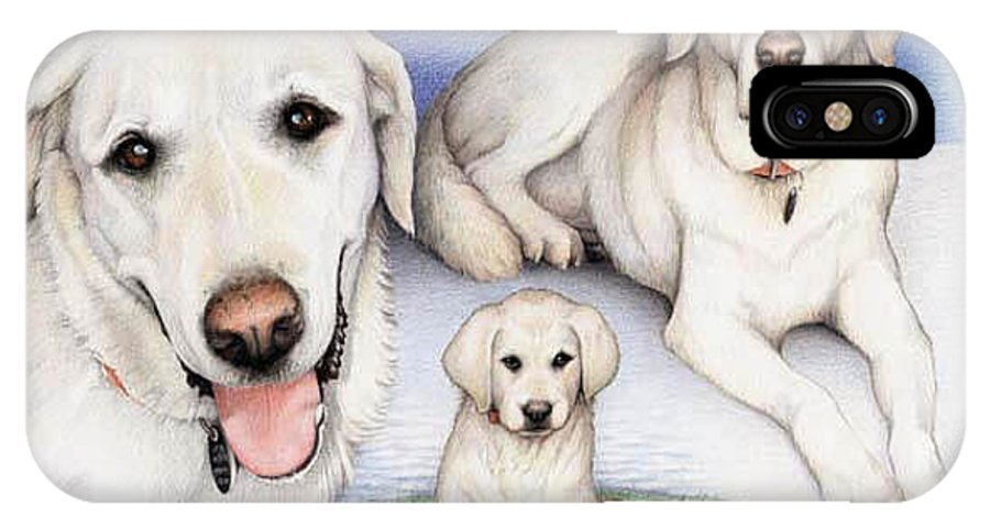 Dog IPhone X Case featuring the drawing Johns Henry by Amy S Turner