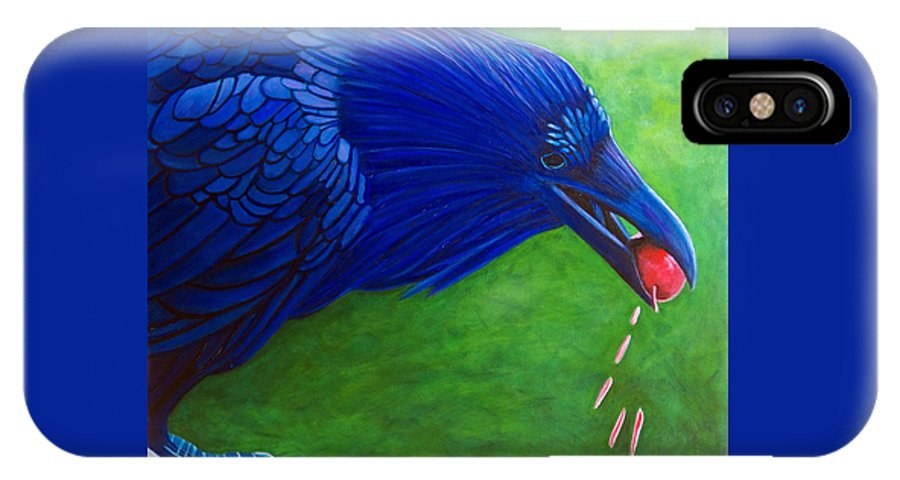 Raven IPhone Case featuring the painting Joie De Vivre by Brian Commerford