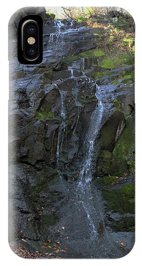Waterfall IPhone X Case featuring the photograph Jones Falls by Paul A Williams