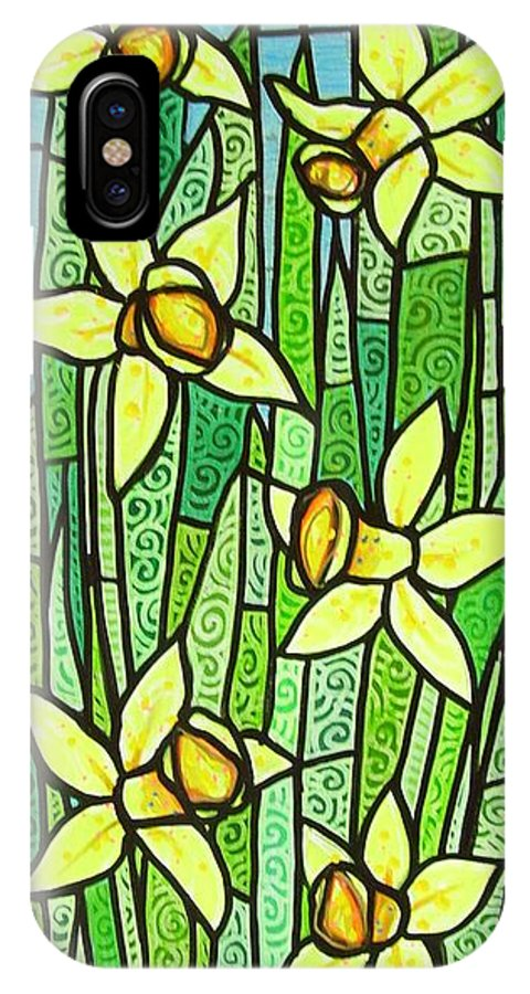 Jonquils IPhone X Case featuring the painting Jonquil Glory by Jim Harris