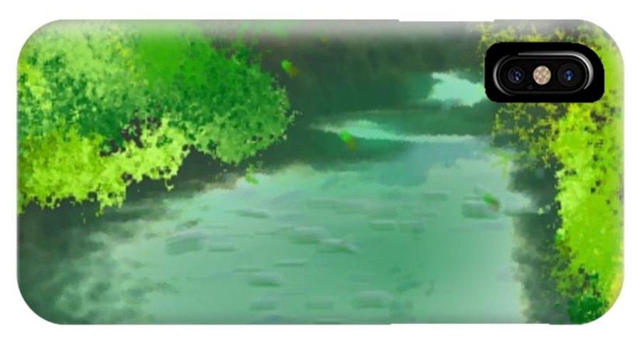 Jordan-river IPhone X Case featuring the digital art Jordan River.golan Heights by Dr Loifer Vladimir