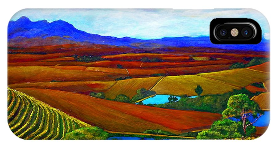 Vineyard IPhone Case featuring the painting Jordan Vineyard by Michael Durst