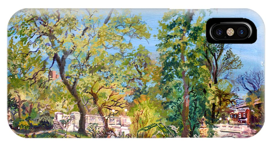 Josephine Garden IPhone X Case featuring the painting Josephine Gardens by Keith OBrien Simms