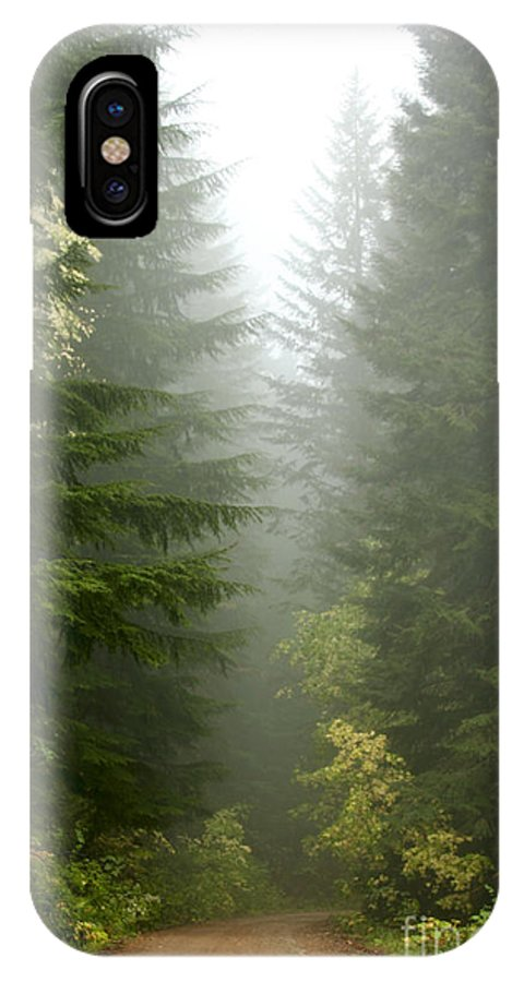 Forest IPhone X Case featuring the photograph Journey Through The Fog by Idaho Scenic Images Linda Lantzy