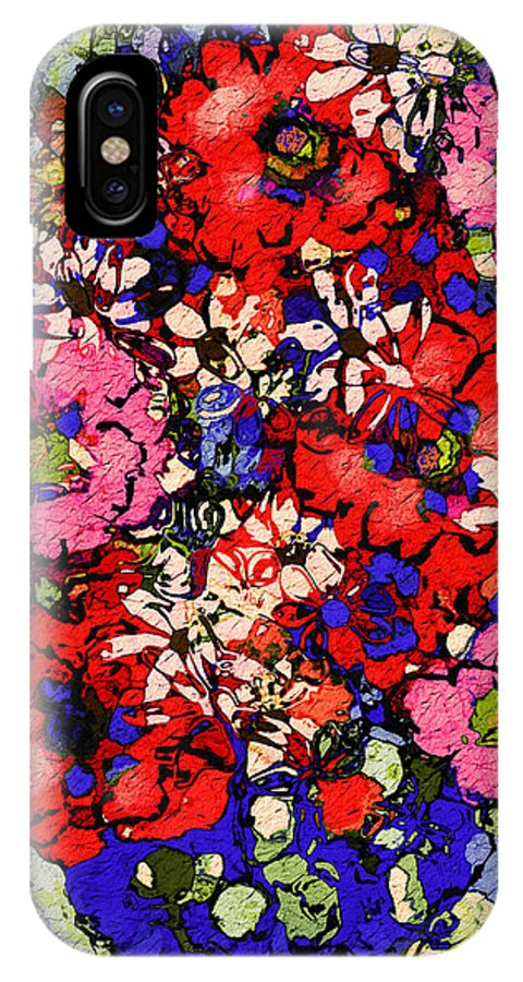 Floral Abstract IPhone Case featuring the painting Joyful Flowers by Natalie Holland