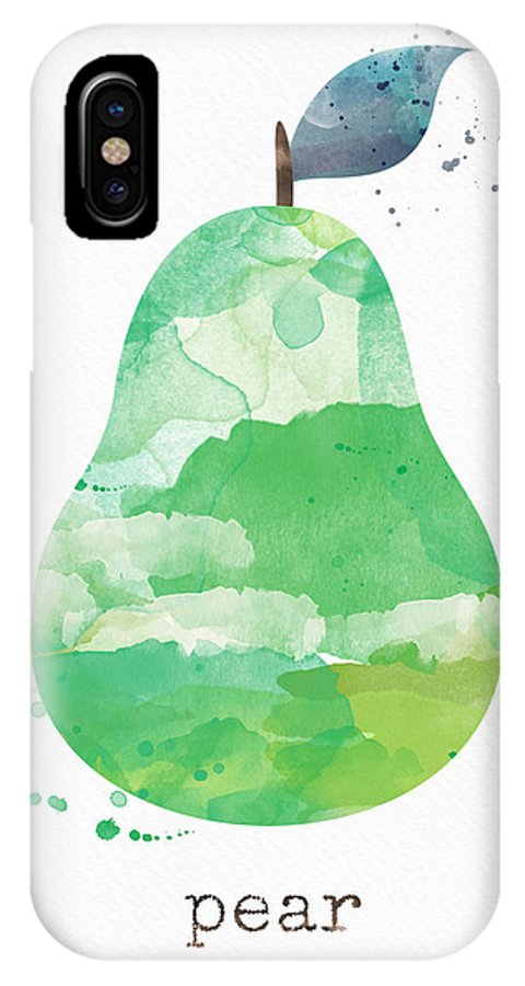 Pear IPhone X Case featuring the painting Juicy Pear by Linda Woods