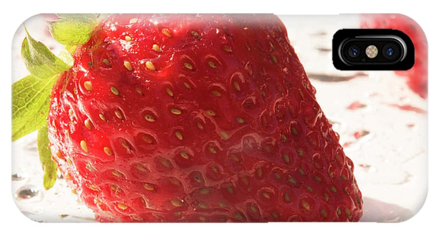 Strawberry IPhone X Case featuring the photograph Juicy Strawberries by Michelle Himes
