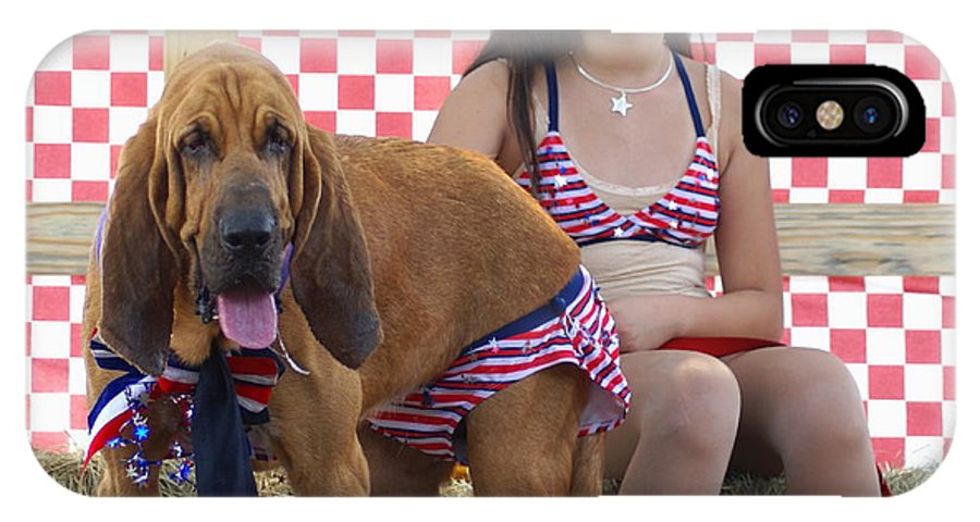 Fineartamerica.com/debbie-may IPhone X Case featuring the photograph jULY 4TH GALS by Debbie May