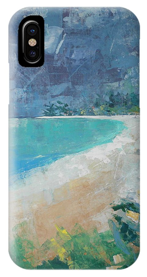 Impressionist IPhone X Case featuring the painting Jumby Beach by Jan Farara