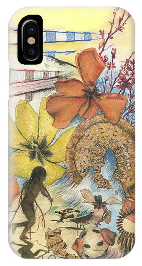 Abstract IPhone X Case featuring the digital art June by Valerie Meotti