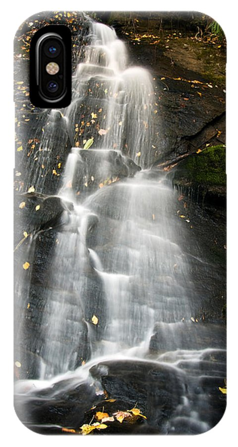 Waterfall IPhone X / XS Case featuring the photograph Juney Whank Falls by Bob Decker
