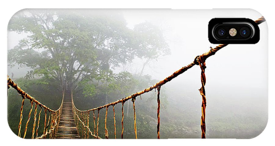 Rope Bridge IPhone X Case featuring the photograph Jungle Journey by Skip Nall