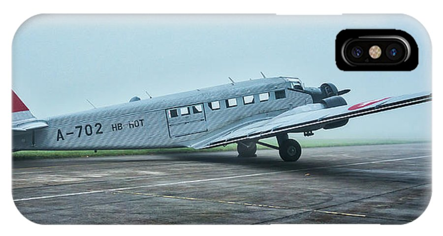 Junkers IPhone X Case featuring the photograph Junkers Ju-52 by Jiri Vatka