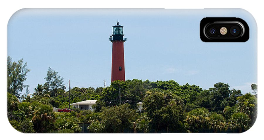 Florida; Juptier; Inlet; Loxahatchee; River; Atlantic; Coast; Shore; Beach; Light; Lighthouse; Beaco IPhone X Case featuring the photograph Jupiter Inlet Lighthouse by Allan Hughes