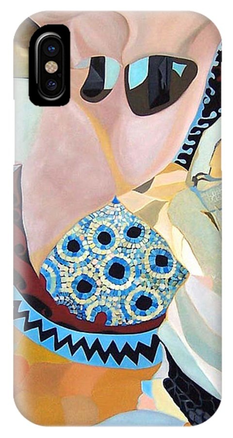 Figyrative IPhone X Case featuring the painting Jurney by Antoaneta Melnikova- Hillman