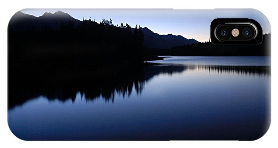 Johnson Lake IPhone X Case featuring the photograph Just Before Dawn by Larry Ricker