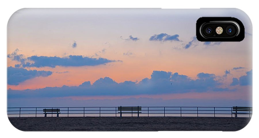 Just IPhone X Case featuring the photograph Just Before Sunrise In Asbury Park by Bill Cannon