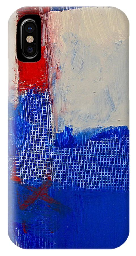 Abstract Paintings IPhone X Case featuring the painting Just Meshing Around by Cliff Spohn