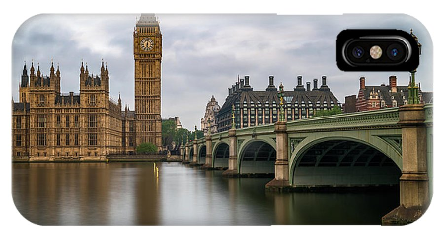 London IPhone X Case featuring the photograph Just Past Six by James Udall