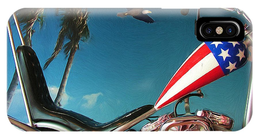 Motorcycle IPhone Case featuring the painting Just Ride by Kenneth Krolikowski