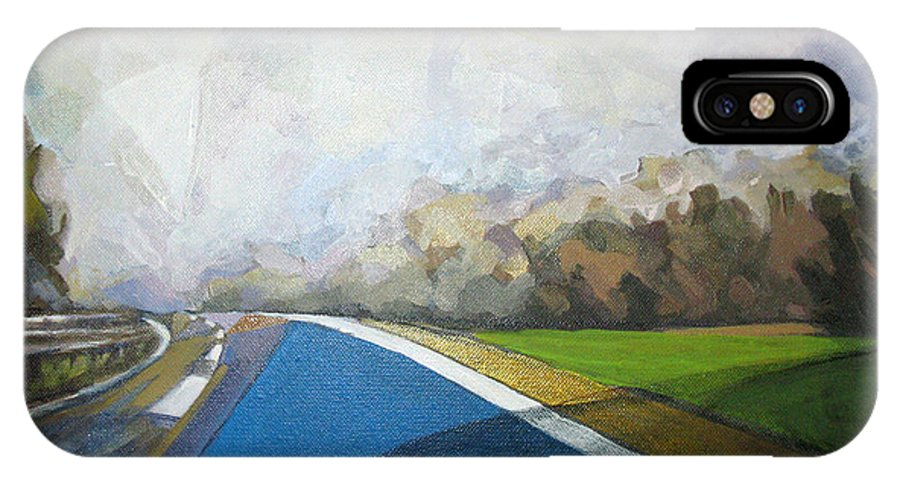 Landscape IPhone X Case featuring the painting Just That by Mima Stajkovic