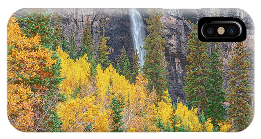 Bridal Veil Falls IPhone X Case featuring the photograph Justice Is The Only Worship. Love Is The Only Priest. by Bijan Pirnia
