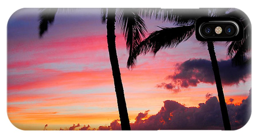 Kaanapali Sunset IPhone X Case featuring the photograph Kaanapali Sunset Kaanapali Maui Hawaii by Michael Bessler