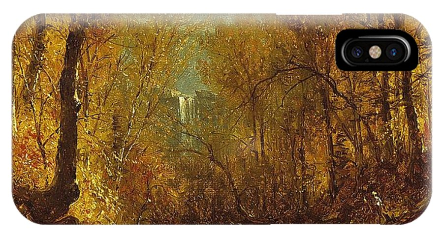 Kaaterskill IPhone X Case featuring the painting Kaaterskill Falls by Sanford Robinson Gifford