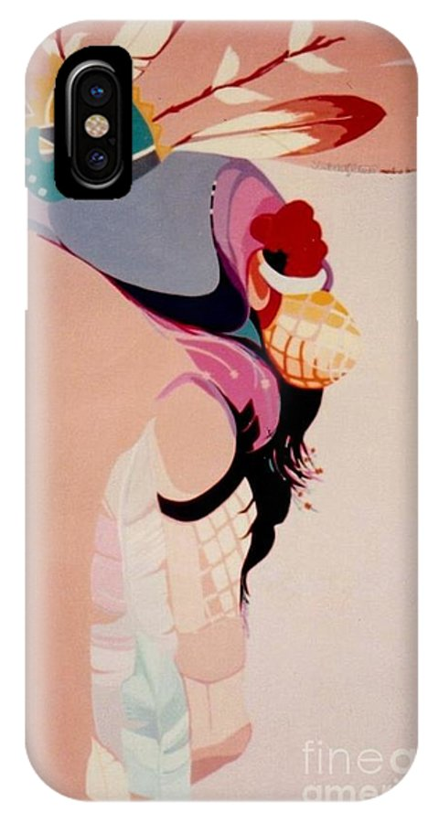 Kachina IPhone Case featuring the painting Kachina 1 by Marlene Burns