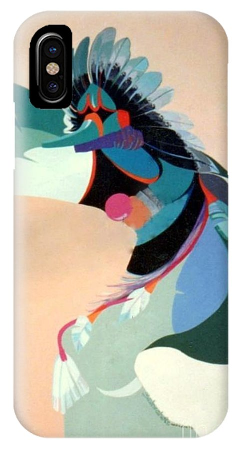 Kachina IPhone X Case featuring the painting Kachina 2 by Marlene Burns