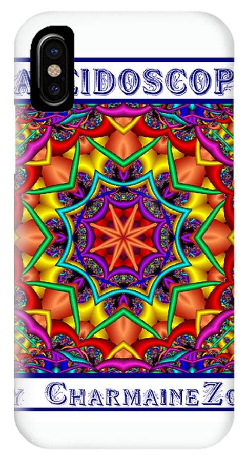 Kaleidoscope IPhone Case featuring the digital art Kaleidoscope 2 by Charmaine Zoe