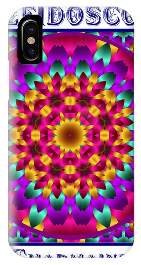 Kaleidoscope IPhone X Case featuring the digital art Kaleidoscope 3 by Charmaine Zoe