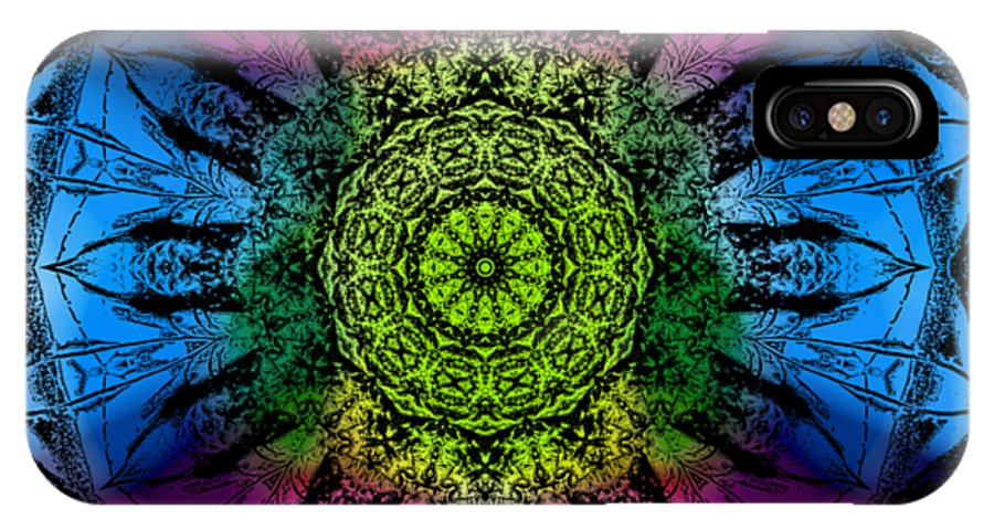 Kaleidoscope IPhone X Case featuring the digital art Kaleidoscope - Colorful by Deleas Kilgore