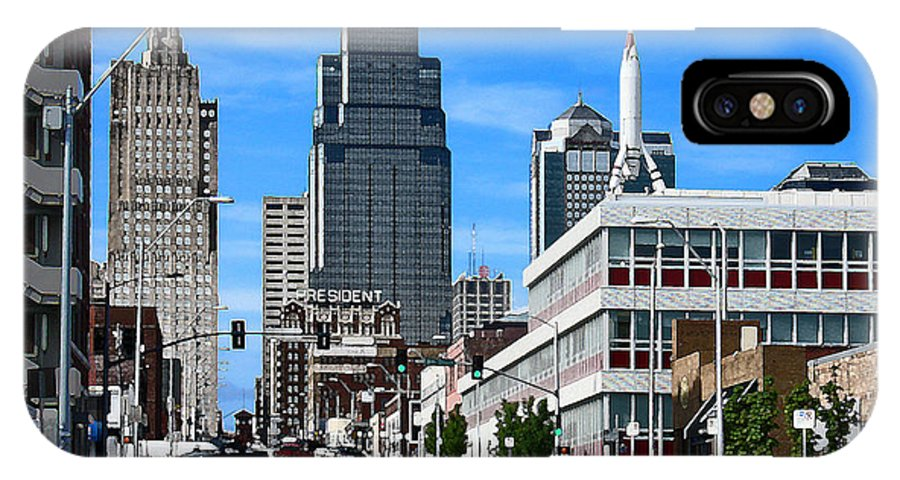 City Scape IPhone X Case featuring the photograph Kansas City Cross Roads by Steve Karol