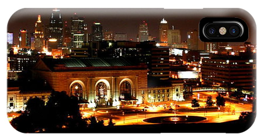 Cityscape IPhone X Case featuring the photograph Kansas City Lights by David Dunham