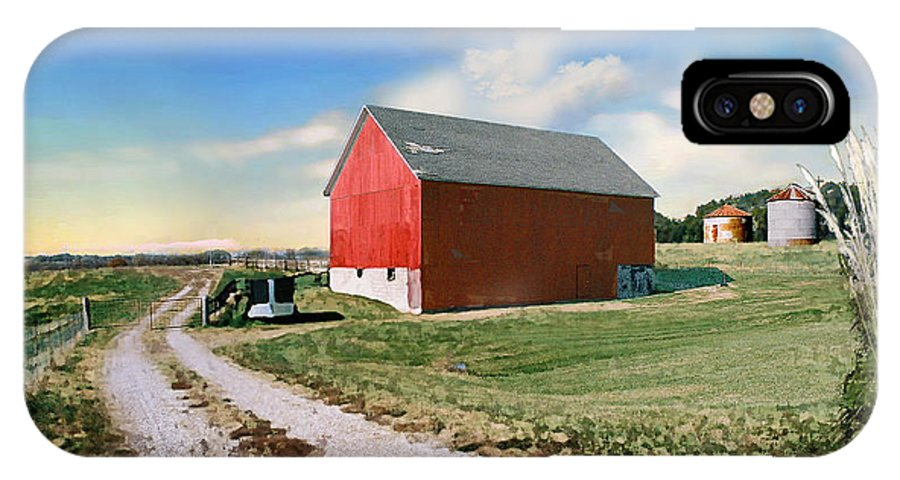 Barn IPhone X Case featuring the photograph Kansas Landscape II by Steve Karol