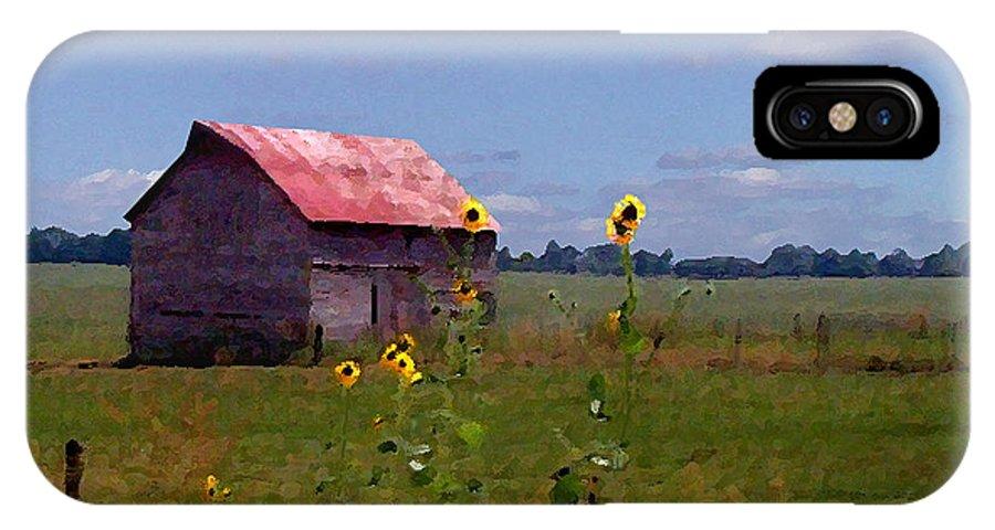 Landscape IPhone X Case featuring the photograph Kansas Landscape by Steve Karol