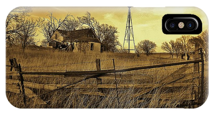 Kansas IPhone X Case featuring the photograph Kansas Pioneer Homestead On The Plains by Greg Rud