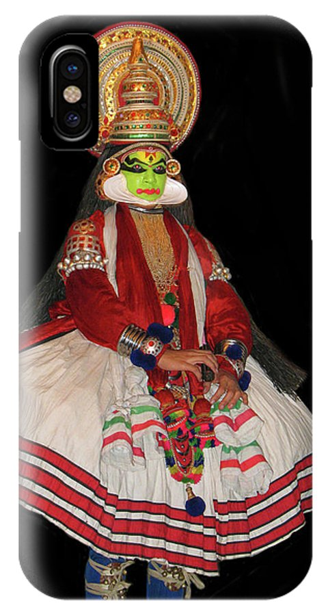 Kathakali IPhone X Case featuring the photograph Kathakali Dancer by Art Spectrum