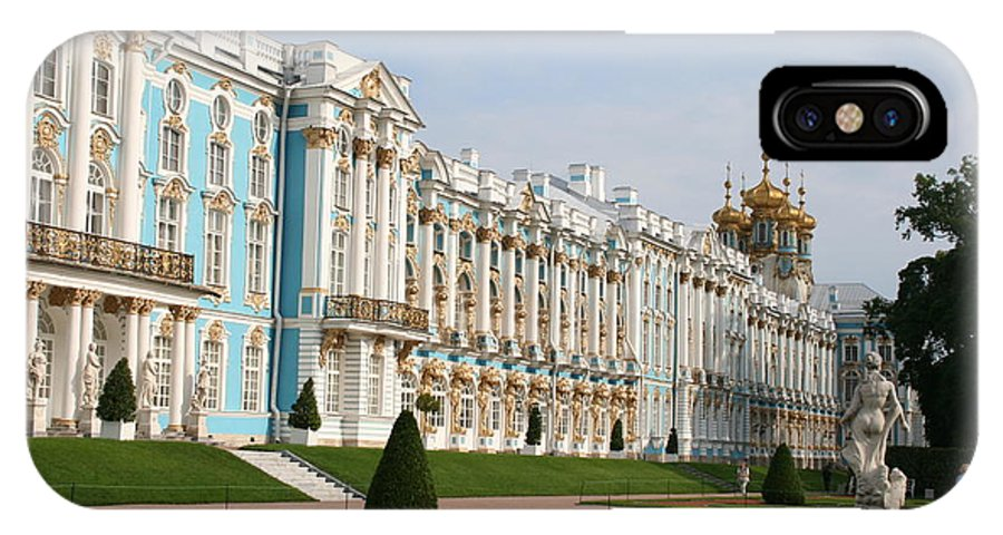 Palace IPhone X Case featuring the photograph Katharinen Palace - Russia by Christiane Schulze Art And Photography