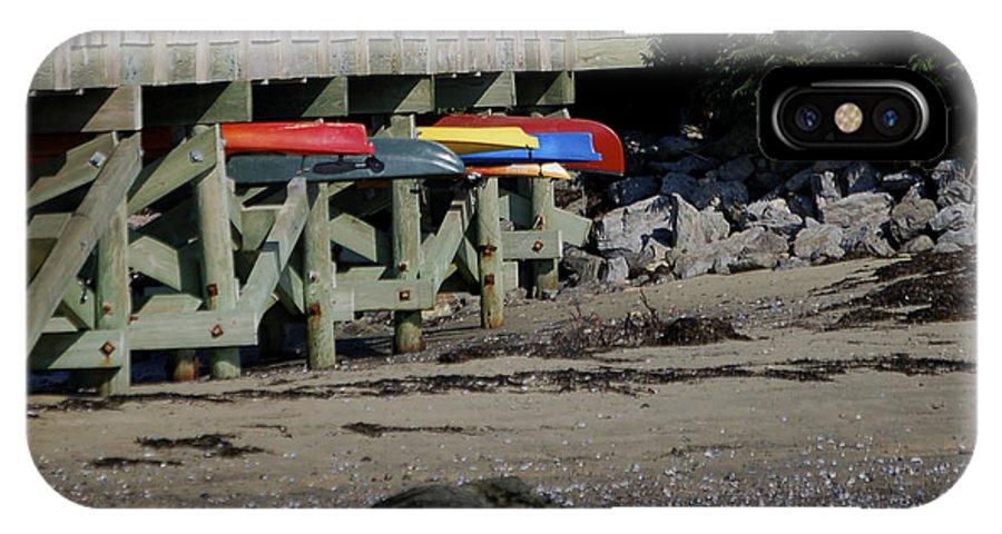 Kayak IPhone Case featuring the photograph Kayak Rack by Faith Harron Boudreau