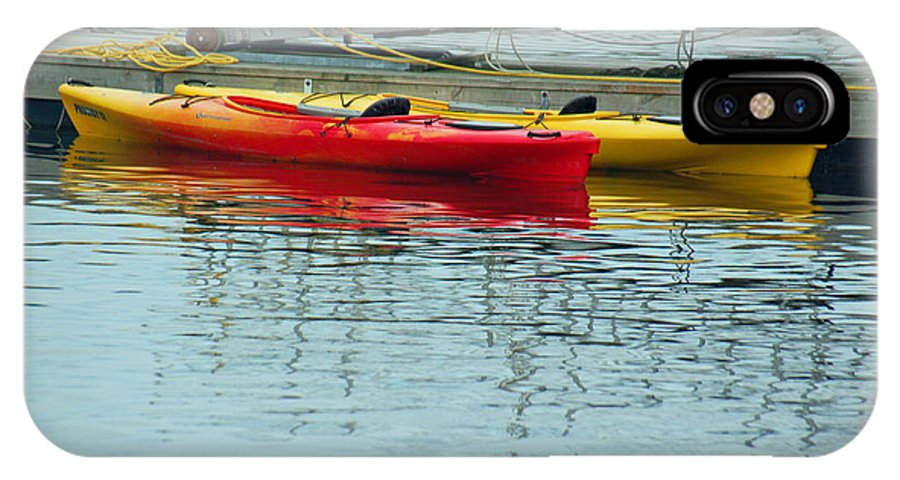 Kayak IPhone X Case featuring the photograph Kayaks by Suzanne Gaff