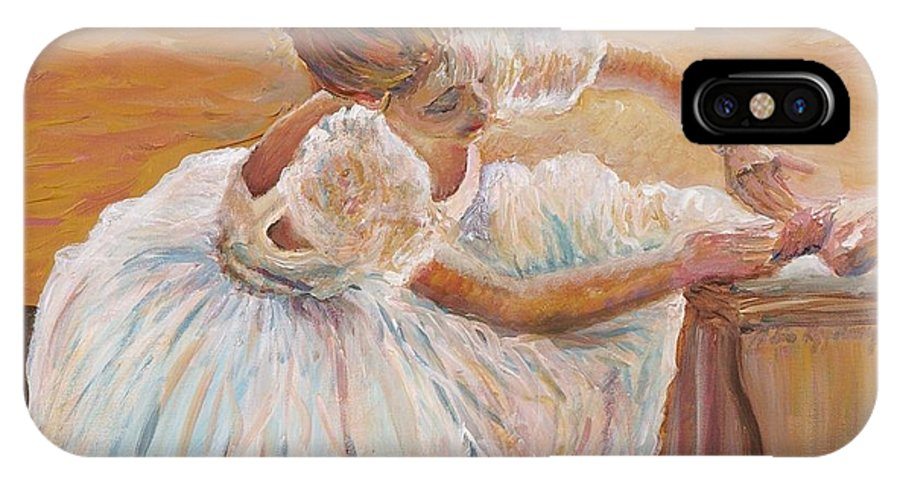 Dancer IPhone X / XS Case featuring the painting Kaylea by Nadine Rippelmeyer