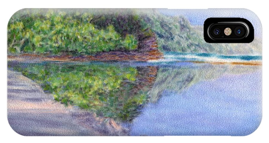 Rainbow Colors Pastel IPhone Case featuring the painting Ke' E Beach In May by Kenneth Grzesik