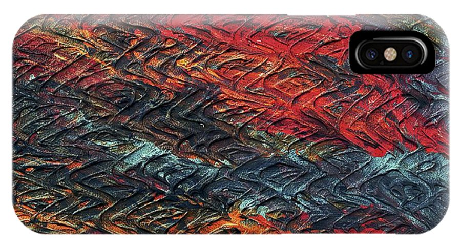 Keith Elliott IPhone X / XS Case featuring the painting Keelee's Revenge - V1lle35 by Keith Elliott