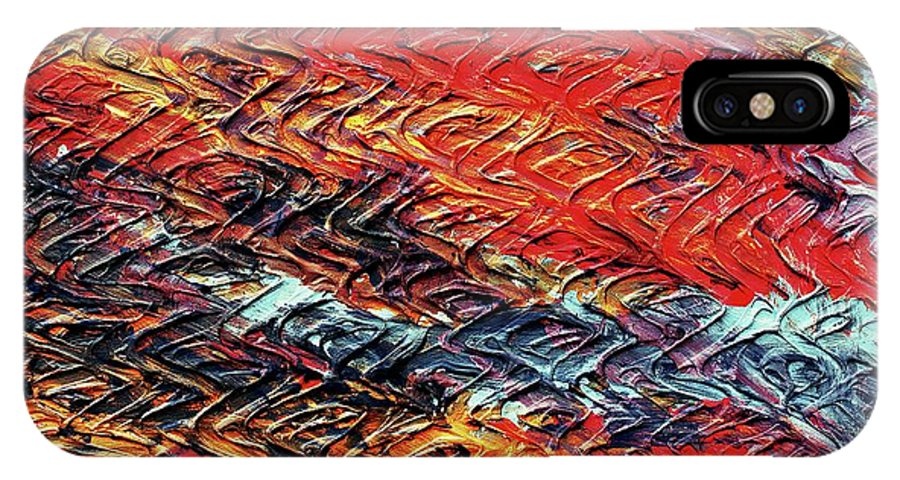 Keith Elliott IPhone X / XS Case featuring the painting Keelee's Revenge - V1vhkf100 by Keith Elliott