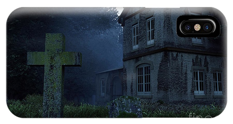 Dark IPhone X Case featuring the digital art Keepers Of The Manor by Richard Rizzo