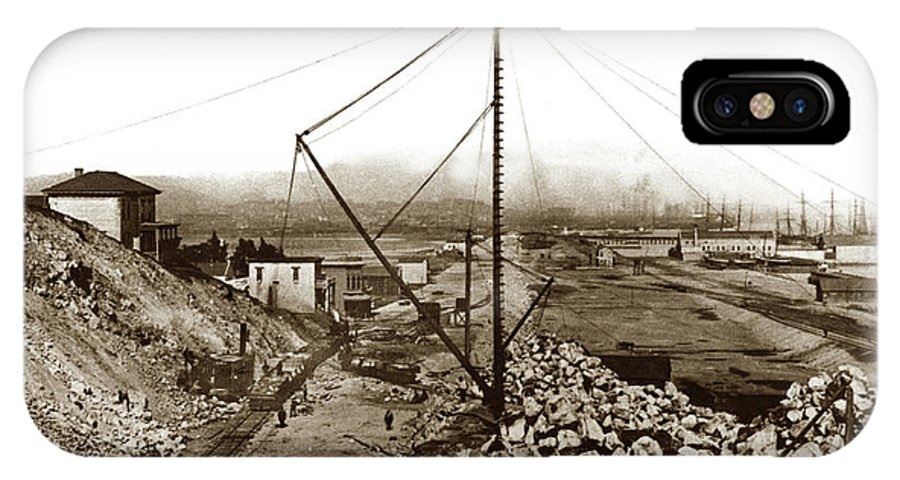 Kentucky Street IPhone X Case featuring the photograph Kentucky Street Grand Port View Now 3rd Street Grading Work, C by California Views Archives Mr Pat Hathaway Archives