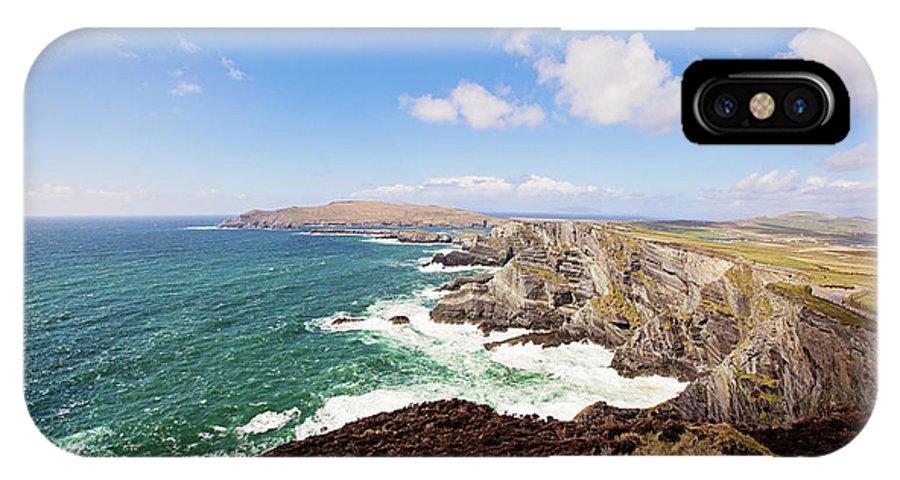Kerry Cliffs IPhone X / XS Case featuring the photograph Kerry Cliffs Panoramic by Scott Pellegrin