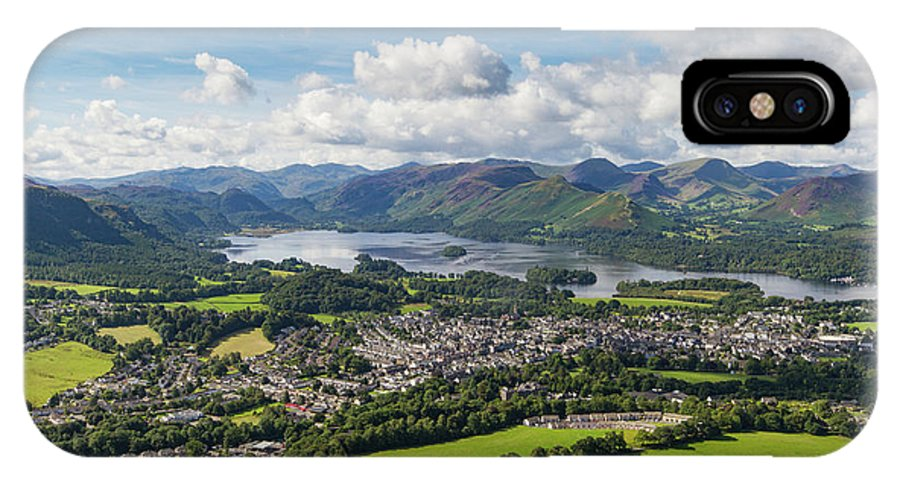 Cumbria Lake District IPhone X Case featuring the photograph Keswick And Derwent Water View From Latrigg by Iordanis Pallikaras